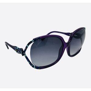 EMILIO PUCCI 60mm Purple Cold Insert Sunglasses